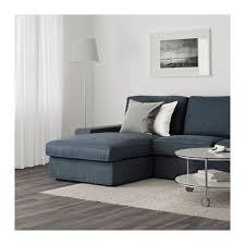 kivik sofa with chaise hillared dark