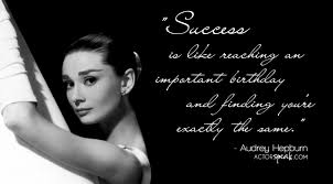 Wallpaper: Audrey Hepburn Quote On Acting With Photo | Actorspeak.com