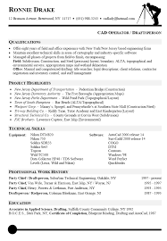 Cover Letter For Drafter Cad Operator Resume Sample For Cad Operator