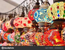 oriental lighting. Turkish Or Oriental Lamps On A Bazaar \u2014 Stock Photo Lighting
