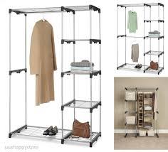 details about whitmor closet organizer systems wardrobe storage rack clothes shelf hanging rod