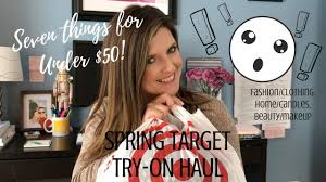 spring target try on haul clothing home makeup