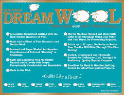 Wool Quilt Batting Quilters Dream Double 96