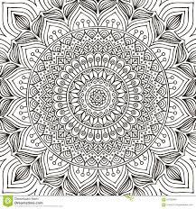 Mandala. Coloring Page Stock Vector - Image: 62432868