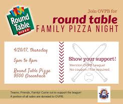 round table pizza fundraiser for ovpb