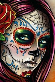 sugar skull canvas painting tutorial day of the dead tees