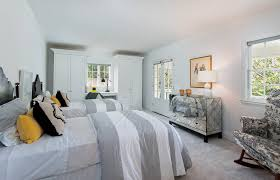 Perfect Soft Colors Like Gray And Charcoal Can Be Used Safely In A Mostly White  Bedroom To