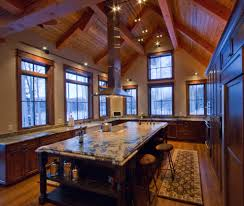 ... Island Range Hood Kitchen Traditional With Beam Built Eanf Hammered  Copper Apron Sink Workbench Extractor White ...