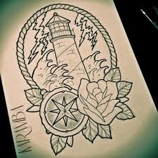 маяк море тату эскизы татуировки эскизы значение надписи фото Tattoo
