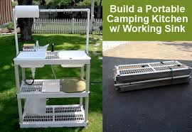 Build A Portable DIY Camping Kitchen With Working Sink  DIY For LifeCamping Kitchen Sink