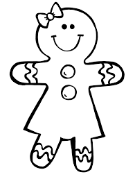 gingerbread cookie clipart black and white.  Gingerbread Images For Gingerbread Clipart And Cookie Black White R