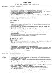 Cad Technician Resume Sample CAD Technician Resume Samples Velvet Jobs 2