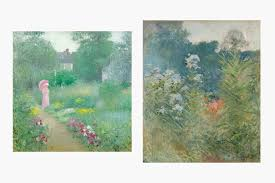 impressionism in bloom at the new york botanical garden stdibs left edmund william greacen s in miss florence s garden 1913 right john h twachtman s wildflowers ca 1890 collection of the taubman museum of art
