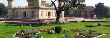 also known as the moonlit garden mehtab bagh was laid out by babur in agra way before taj mahal it is the eleventh garden built by the mughals alongside