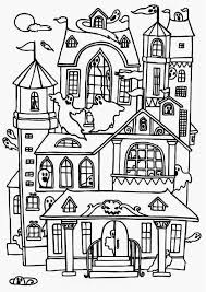 Small Picture Free Printable Haunted House Coloring Pages For Kids