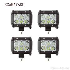 Work Light Replacement Parts Ecahayaku Spot Beam 4 Inch 12v Led Work Light Bar 6000k 2400lm 4x4 4wd Auto Replacement Parts For Jeep Bmw Audi Honda Led To Lighting Led Van Work