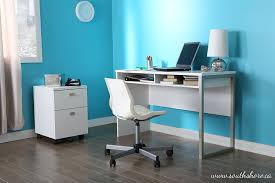 amazing home depot office chairs 4 modern. Amazon.com: Interface Desk \u2013 Sleek Metal Finish Open Storage For Laptop And Tablet Pure White - By South Shore: Kitchen \u0026 Dining Amazing Home Depot Office Chairs 4 Modern
