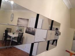 Small Picture Large modern silver multi faceted rectangle wall mirror Modern