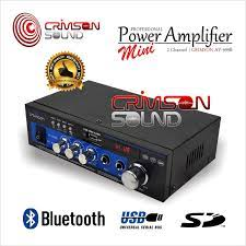 POWER AMPLIFIER MINI AC/DC STEREO BLUETOOTH USB RADIO CRIMSON AV-999B