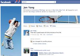 example facebook profile. Modren Facebook 2 Jon Yang To Example Facebook Profile B