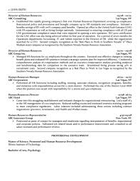 Human Resources Resumes Director Of Human Resources Resume