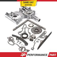 85-95 Toyota 22R 22RE Timing Chain Kit w/ 2 Metal Guides + Timing ...