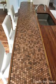 how to make a penny countertop