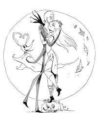 Jack Skellington Coloring Pages Printables Jack And Sally From Jack