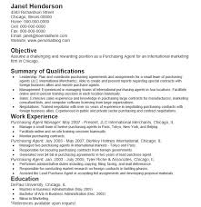 Purchase Agent Resume 2