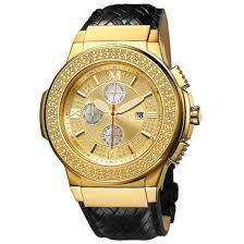 real diamond 0 16 ctw 18k gold plated stainless steel men s saxon jbw men s saxon 0 16 ctw 18k gold plated stainless steel diamond watch jb