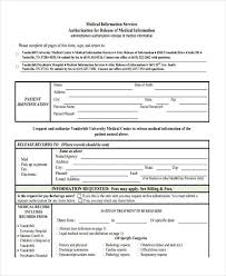 release of medical information template 18 sample general release of information forms