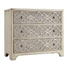 Brimming With Elegant Appeal, This 3 Drawer Chest Showcases Quatrefoil  Overlay And Mirrored Panels