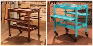 rolling bar cart before after com