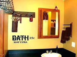 bathroom wall decor ideas images rustic farmhouse country hangings decorations for bathrooms bath decorating amusing