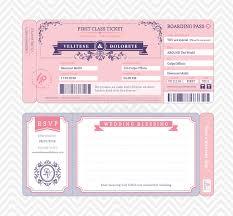 invitation download template boarding pass wedding invitation template stock vector