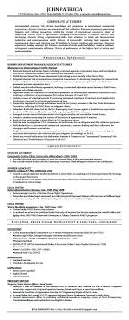 Corporate And Contract Law Clerk Resume Examples Lawyer Sample Legal