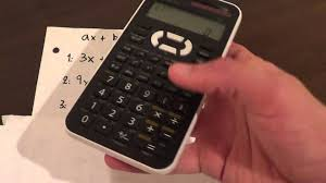 solving a linear system equations 3 unknowns using a el 520x calculator