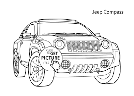 Small Picture car Jeep Compass coloring page cool car printable free