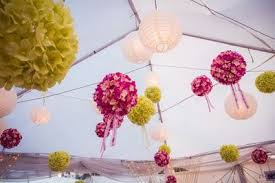 Paper Flower Balls To Hang From Ceiling Wedding Decoration Ideas Decoration For Marriage Reception