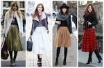 С чем носить юбку брюки зимой 5