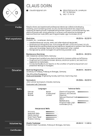 Sample Of Electrician Resumes Resume Examples By Real People Electrician Resume Example