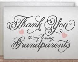 grandpa thank you etsy Wedding Thank You Cards Grandparents thank you to my loving grandparents, thank you card for grandparents, wedding card for wedding thank you card wording grandparents