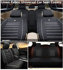 all season deluxe linen fabric car seat covers interior font rear 5 seat cushion 4814554718566