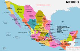map of mexico and its states  lapiccolaitaliainfo