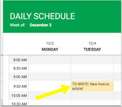 Quick Schedule Maker How To Make A Schedule In Google Spreadsheets How To Now
