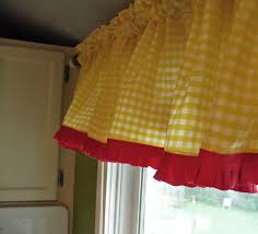 Red And Yellow Kitchen Modern Yellow Kitchen Curtains Home Design Ideas
