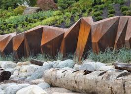 customized size corten steel garden