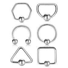 Vcmart 16g Daith Earrings Stainless Steel Nose Rings Hoop