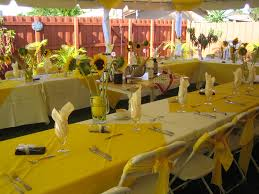 Sunflower Themed Kitchen Decor Yellow Decorations For A Party Sunflower Formal Party With