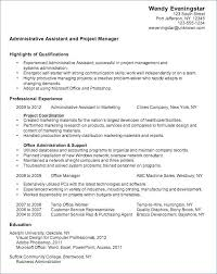 Resume Administrative Assistant Sample Resume Sample Web